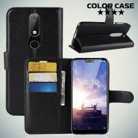 Чехол книжка для Nokia 6.1 Plus / X6 2018 - Черный