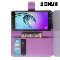 Чехол книжка для Samsung Galaxy A3 2016 SM-A310F - Фиолетовый