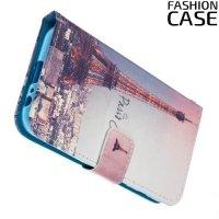 Чехол книжка для Samsung Galaxy A3 2017 SM-A320F - с рисунком Париж