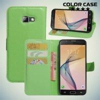 Чехол книжка для Samsung Galaxy A5 2017 SM-A520F - Зеленый