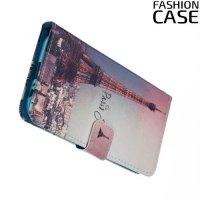 Чехол книжка для Samsung Galaxy A5 2017 SM-A520F - с рисунком Париж