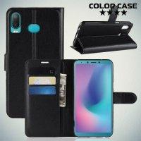 Чехол книжка для Samsung Galaxy A6s - Черный