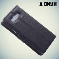 Чехол книжка для Samsung Galaxy A7 - Черный