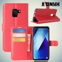 Чехол книжка для Samsung Galaxy A7 2018 SM-A730F - Красный