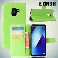 Чехол книжка для Samsung Galaxy A7 2018 SM-A730F - Зеленый