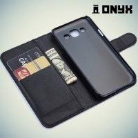 Чехол книжка для Samsung Galaxy E5 - Черный