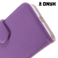 Чехол флип для Samsung Galaxy J3 2016 SM-J320F - Фиолетовый