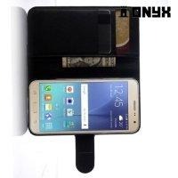 Чехол книжка для Samsung Galaxy J3 2016 SM-J320F - Черный