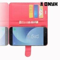 Чехол книжка для Samsung Galaxy J5 2017 - Красный