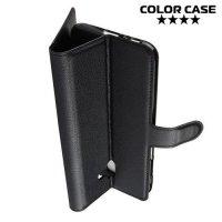 Чехол книжка для Samsung Galaxy J6 Plus - Черный
