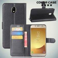 Чехол книжка для Samsung Galaxy J7 2018 - Черный