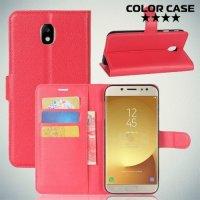 Чехол книжка для Samsung Galaxy J7 2018 - Красный