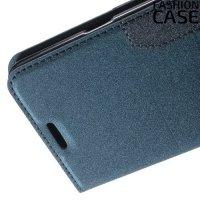 Чехол книжка для Samsung Galaxy Note 5 с скрытой магнитной застежкой - Синий