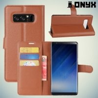 Чехол книжка для Samsung Galaxy Note 8 - Коричневый