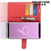 Чехол книжка для Samsung Galaxy Note 9 - Красный