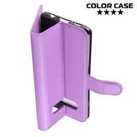 Чехол книжка для Samsung Galaxy S10 - Фиолетовый