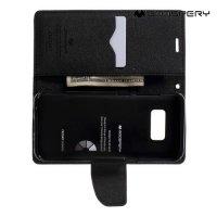 Чехол книжка для Samsung Galaxy S8 Mercury Goospery - Черный