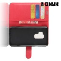 Чехол книжка для Samsung Galaxy S9 Plus - Красный