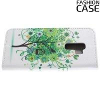 Чехол книжка для Samsung Galaxy S9 Plus - с рисунком Дерево счастья