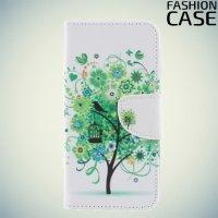 Чехол книжка для Samsung Galaxy S9 - с рисунком Дерево счастья