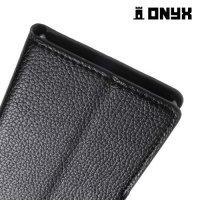 Чехол книжка для Sony Xperia M5 - Черный