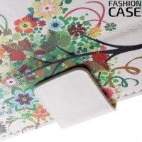 Чехол книжка для Sony Xperia XA - с рисунком Дерево счастья
