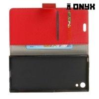 Onyx чехол книжка флип кейс для Sony Xperia XA1 - Красный