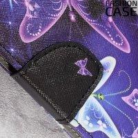 Чехол книжка для Sony Xperia XA1 - с рисунком Бабочки