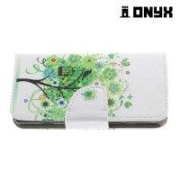 Чехол книжка для Sony Xperia XZ1 Compact - Дерево счастья