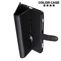 Чехол книжка для Sony Xperia XZ2 Premium - Черный