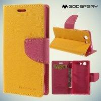Чехол книжка для Sony Xperia Z3 Compact D5803 Mercury Goospery - Желтый