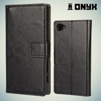 Чехол книжка для Sony Xperia Z5 Compact E5823 - Черный