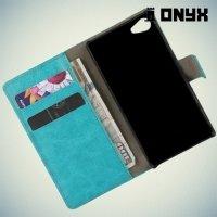 Чехол книжка для Sony Xperia Z5 Compact E5823 - Голубой