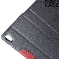 Чехол книжка для Sony Xperia Z5 E6653 с скрытой магнитной застежкой - Черный
