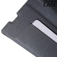 Чехол книжка для Sony Xperia Z5 с скрытой магнитной застежкой - Серый