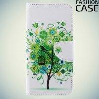 Чехол книжка для Xiaomi Mi 5x / Mi A1 - с рисунком Дерево счастья