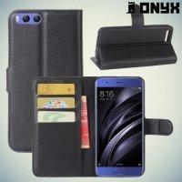 Чехол книжка для Xiaomi Mi 6 - Черный