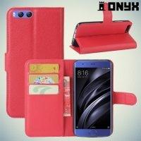 Чехол книжка для Xiaomi Mi 6 - Красный