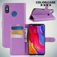 Чехол книжка для Xiaomi Mi 8 - Фиолетовый