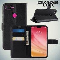 Чехол книжка для Xiaomi Mi 8 Lite - Черный