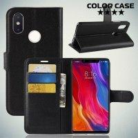 Чехол книжка для Xiaomi Mi 8 SE - Черный