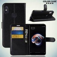 Чехол книжка для Xiaomi Mi A2 - Черный