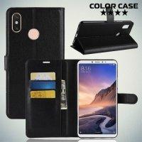 Чехол книжка для Xiaomi Mi Max 3 - Черный