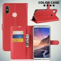 Чехол книжка для Xiaomi Mi Max 3 - Красный