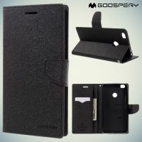 Чехол книжка для Xiaomi Mi Max Mercury Goospery - Черный
