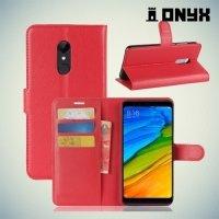 Чехол книжка для Xiaomi Redmi 5 - Красный