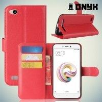 Чехол книжка для Xiaomi Redmi 5a - Красный