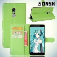 Чехол книжка для Xiaomi Redmi Note 4X - Зеленый