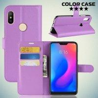 Чехол книжка для Xiaomi Redmi Note 6 / Note 6 Pro - Фиолетовый