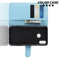 Чехол книжка для Xiaomi Redmi Note 7 / Note 7 Pro - Голубой